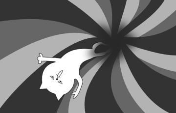 ブラックホール 落胆 転落 猫 漫画
